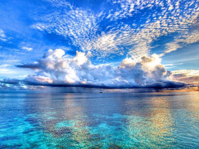 хмари на південний захід